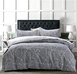 JOHNPEY Duvet Cover King - 100% Cotton Bedding Set (1 Duvet Cover 104