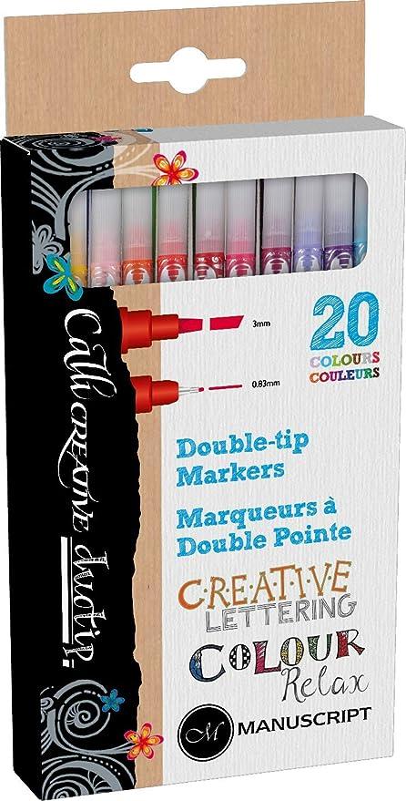 Manuscript Callicreative duo-tip Pen (Pack de 20): Amazon.es: Oficina y papelería