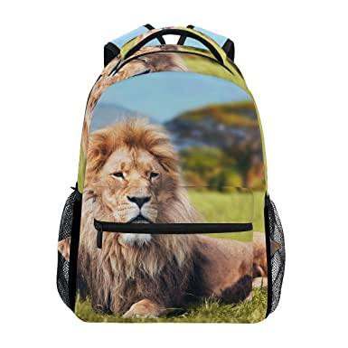 LORVIES Big Lion Casual Backpack School Bag Travel Daypack d1f250d67ca2a