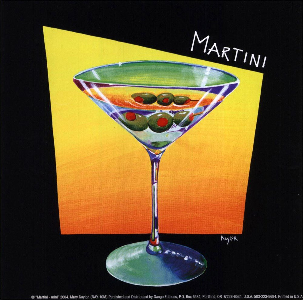 Amazon.com: Martini by Mary Naylor Framed Art Print Wall Picture ...