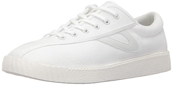 Tretorn Women's Nylite Plus Sneakers, White/White/White, 8 M US