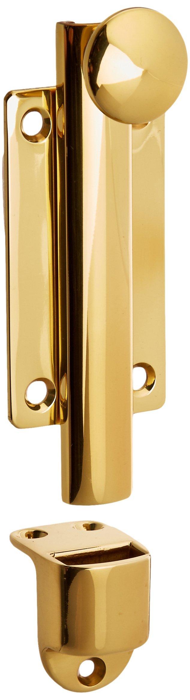 Baldwin 0345030 Dutch Door Bolt, Bright Brass