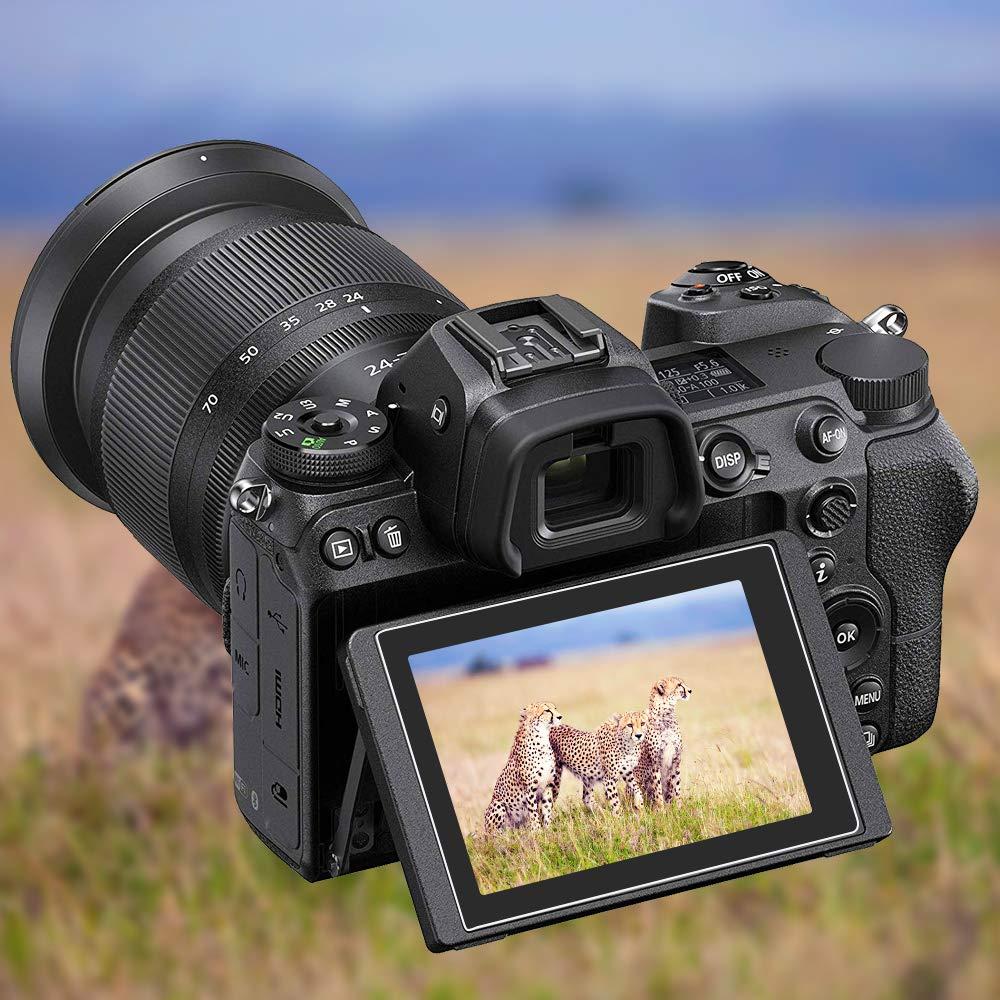 2 Unidades, Cristal Templado, antiara/ñazos, Alta Transparencia Protectores de Pantalla para c/ámara Digital Nikon Z7 Z6 AFUNTA