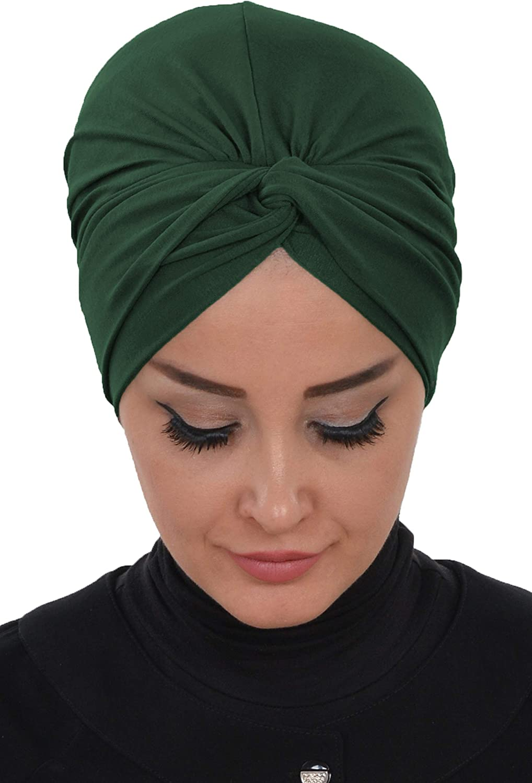 Instant Turban for Women Cotton Head Wrap Lightweight Head Scarf Modest Headwear