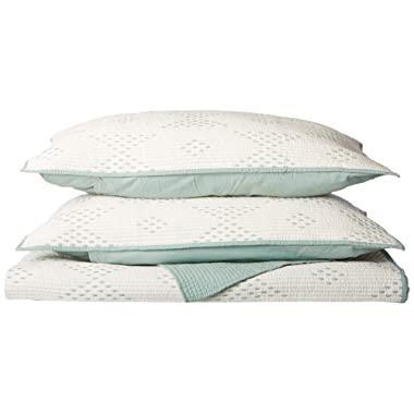 INK+IVY Pacific 140TC Coverlet Set, King, Blue