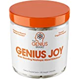 Genius Joy - Serotonin Mood Booster for Anxiety Relief, Wellness & Brain Support, Nootropic Dopamine Stack w/Sam-e, Panax Gin