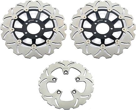 Tarazon Bremsscheiben Rotoren Set Vorne Hinten 3 Pcs Für Suzuki Gsxr Gsx R 750 W 91 95 Gsxr 750 F Slingshot 89 91 Gsx R 1100 89 92 Gsxr 1100 W 93 00 Auto
