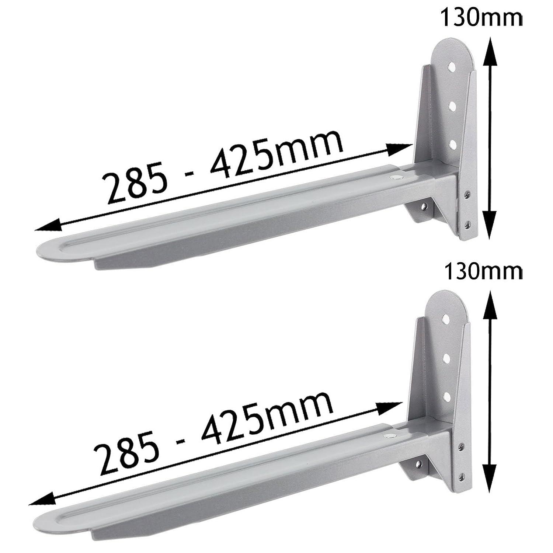 Spares2go argento regolabile allungabile supporto staffe per LG forni a microonde