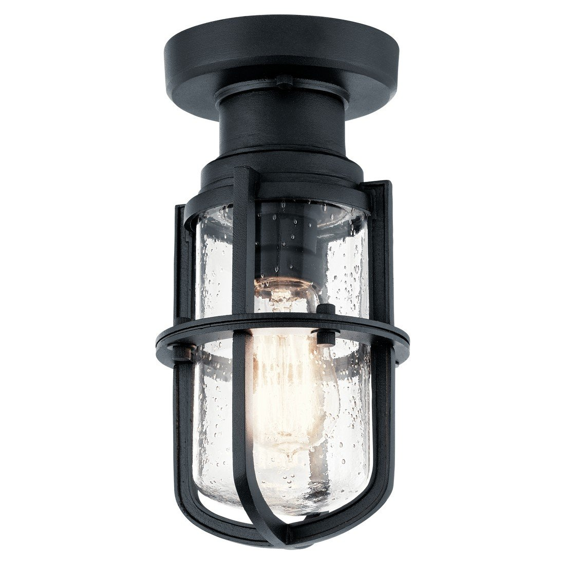 Kichler 49861BKT One Light Outdoor Ceiling Mount by KICHLER