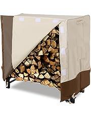 SONGMICS Heavy Duty Log Rack Cover, Waterproof Firewood Cover 4 Feet UGLC48M