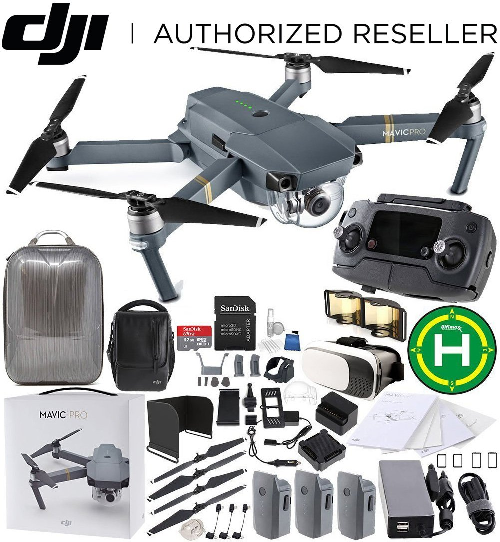 DJI Mavic Pro FLY MORE COMBO Collapsible Quadcopter EVERYTHING YOU NEED Bundle