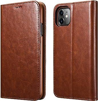 ICARER Funda iPhone 11, Cartera Carcasa Piel PU Suave Flip Folio ...