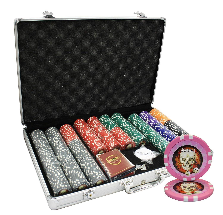 MRC 650pcs Skull Skull 650pcs Poker MRC Chipsセットwith Aluminumケースカスタム構築 B01D7T69M8, 紳士服のミツヤ:84e5532b --- itxassou.fr