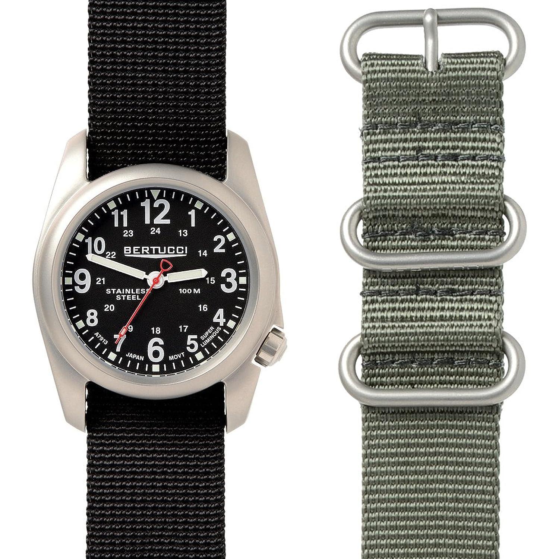 Bertucci A-2S Field Watch Box Set | Black Nylon + Defender Drab Nylon 01050