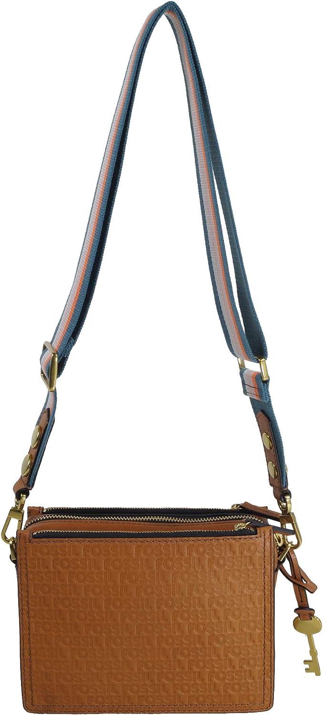 Fossil Damen Handtasche Tasche Schultertasche Campell Crossbody Blau ZB7295-981