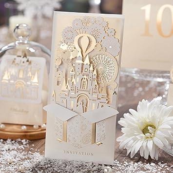 10 X U0026quot;Hochzeit Fantasiau0026quot; 3D Laser Cut Hochzeit In Castle Einladung  Karten In