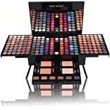 Pure Vie Professional 180 Ultimate Colors Shiny and Matte Eyeshadow Palette Makeup Contouring Kit with 2 Face Powder, 2 Blusher, 1 Eyeliner Pencil, 6 brushs and 6 Eyebrow - All In One Makeup Gift Set