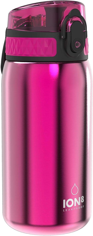 Ion8 Botella Agua Acero Inoxidable Niños Sin Fugas, 400 ml