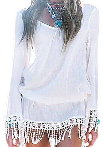 confit you - Camisas - Manga Larga - ligeramente transparente - para mujer