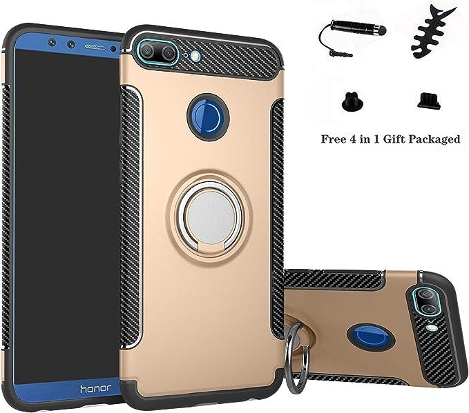 LFDZ Huawei Honor 9 Lite Anillo Soporte Funda 360 Grados Giratorio ...