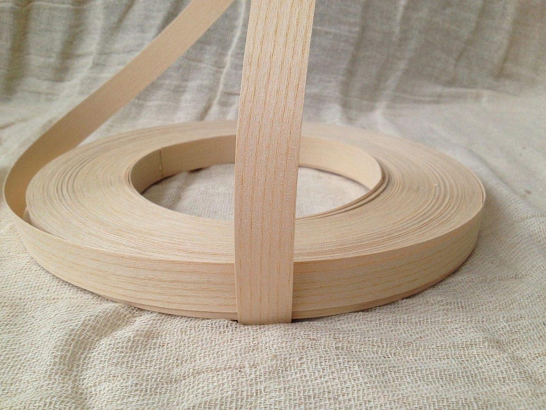 Pre Glued Iron on Ash Wood Veneer Edging Tape 18mm Wide x 50metres.Free Postage vale veneers