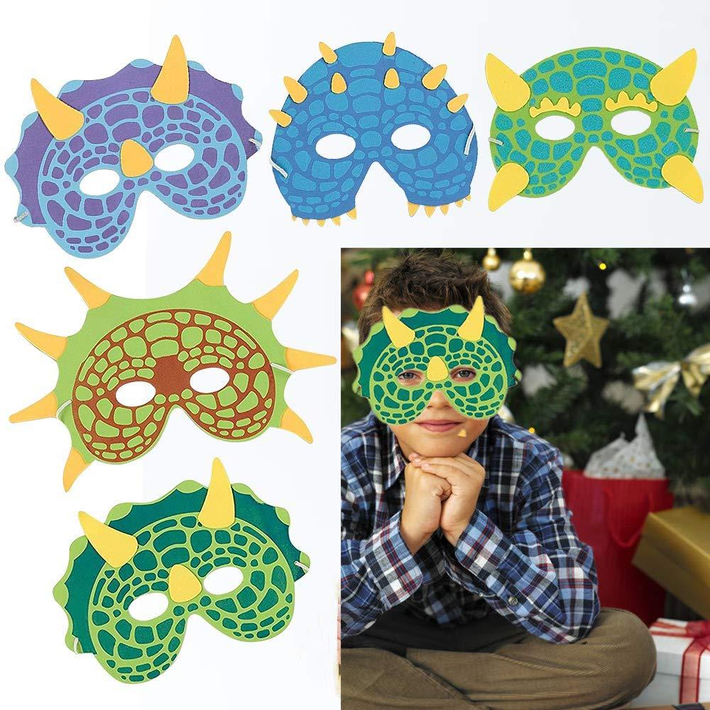 Kinder Schaum Tiere Masken,12 St/ück Schaum Masken Dschungel Tier Masken Tiermasken Kinder f/ür Jungen M/ädchen Geburtstag Halloween Christmas Party Supplies