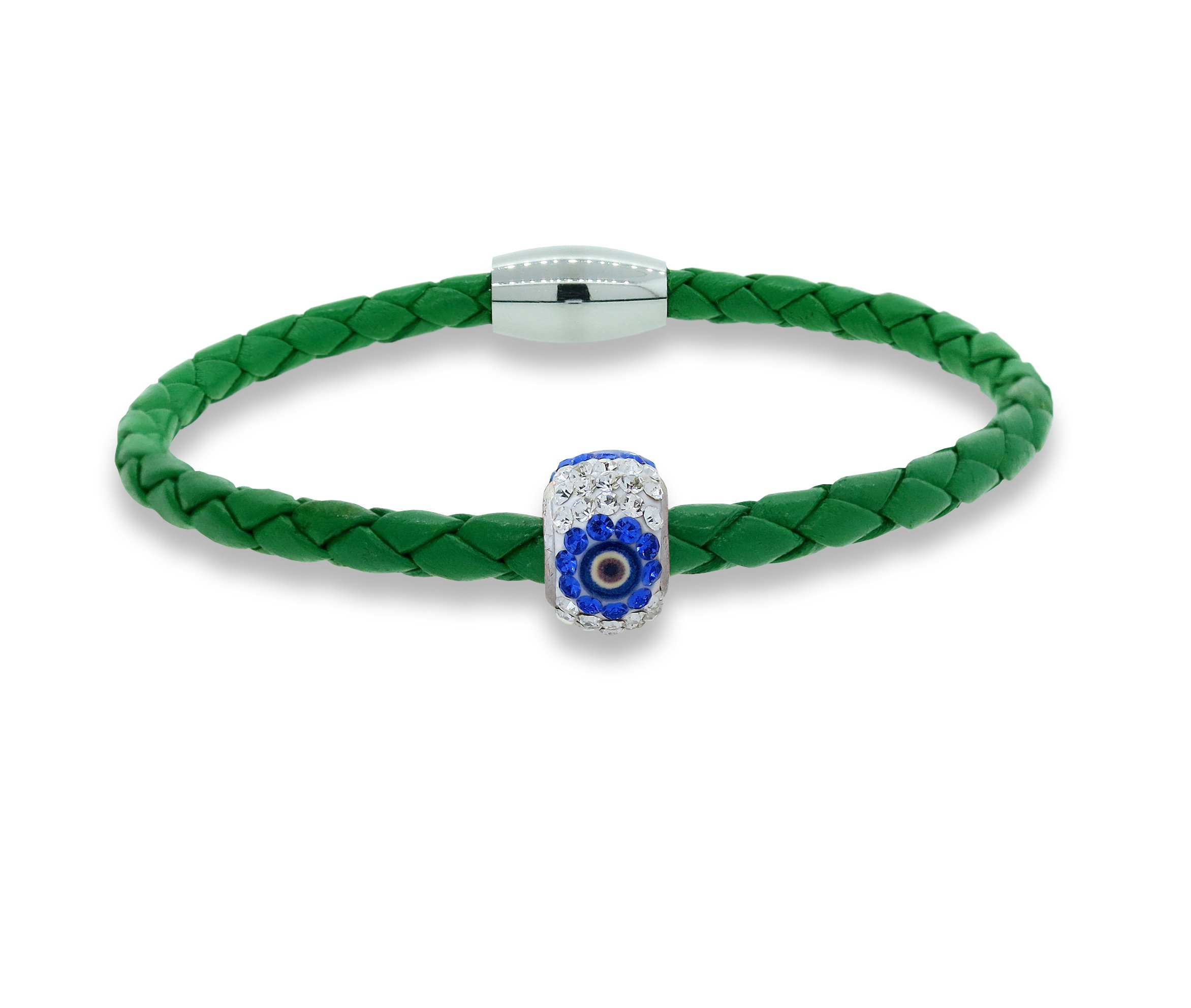 Liza Schwartz Jewelry Kids The Evil Eye Bracelet (Green)