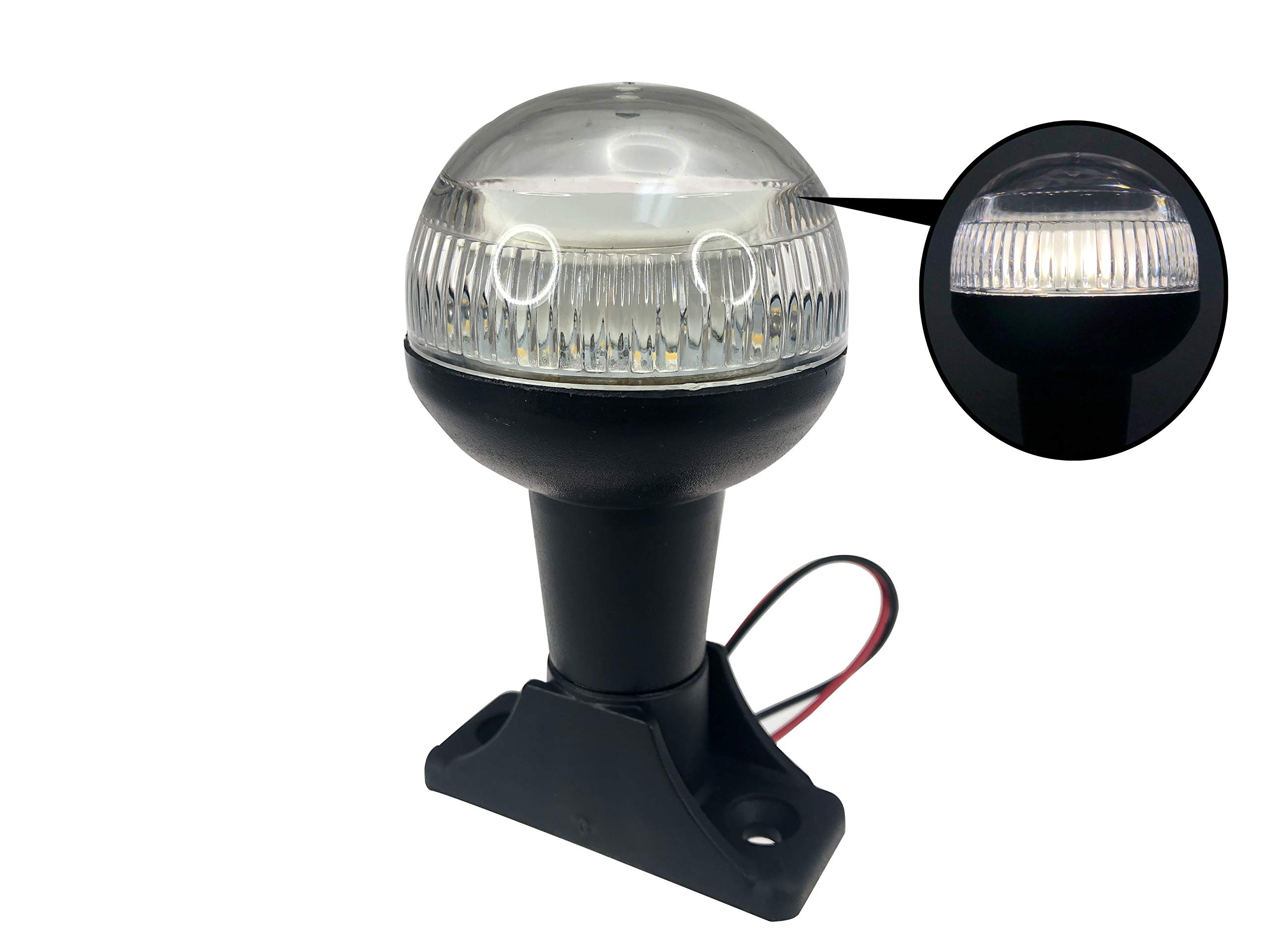 Pactrade Marine Boat LED All Round Anchor Navigation Light SS Pole 4'' H USCG 2NM by Pactrade Marine