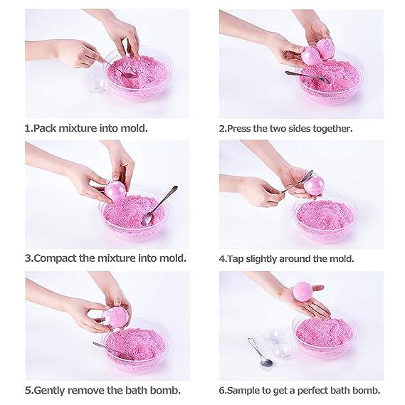 Mision 3 Tamaño 15 Bolas de navidad DIY Transparente Molde de Bombas de Baño puede lleno de dulces chocolates y regalos: Amazon.es: Hogar