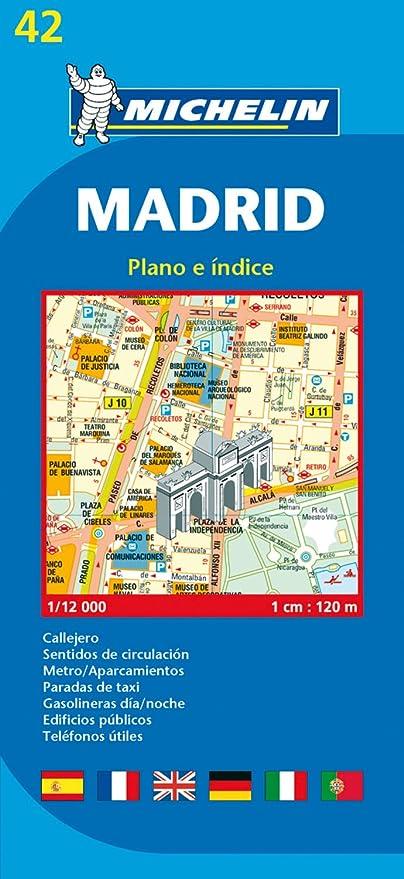 Plano Plegable Madrid (Planos Michelin): MICHELIN: Amazon.es ...