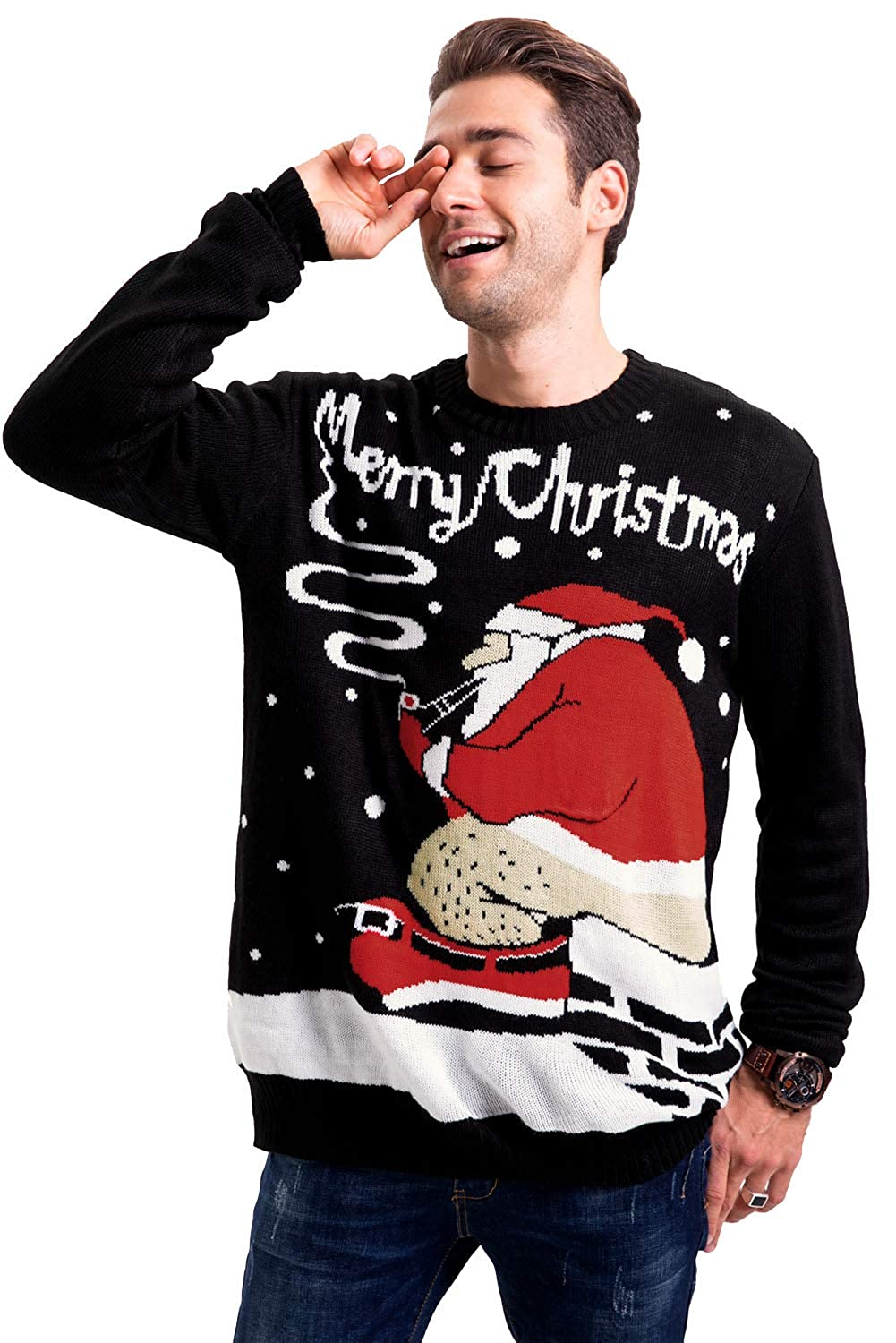 Arvilhill Mens Christmas Funny Ugly Sweater Pullover