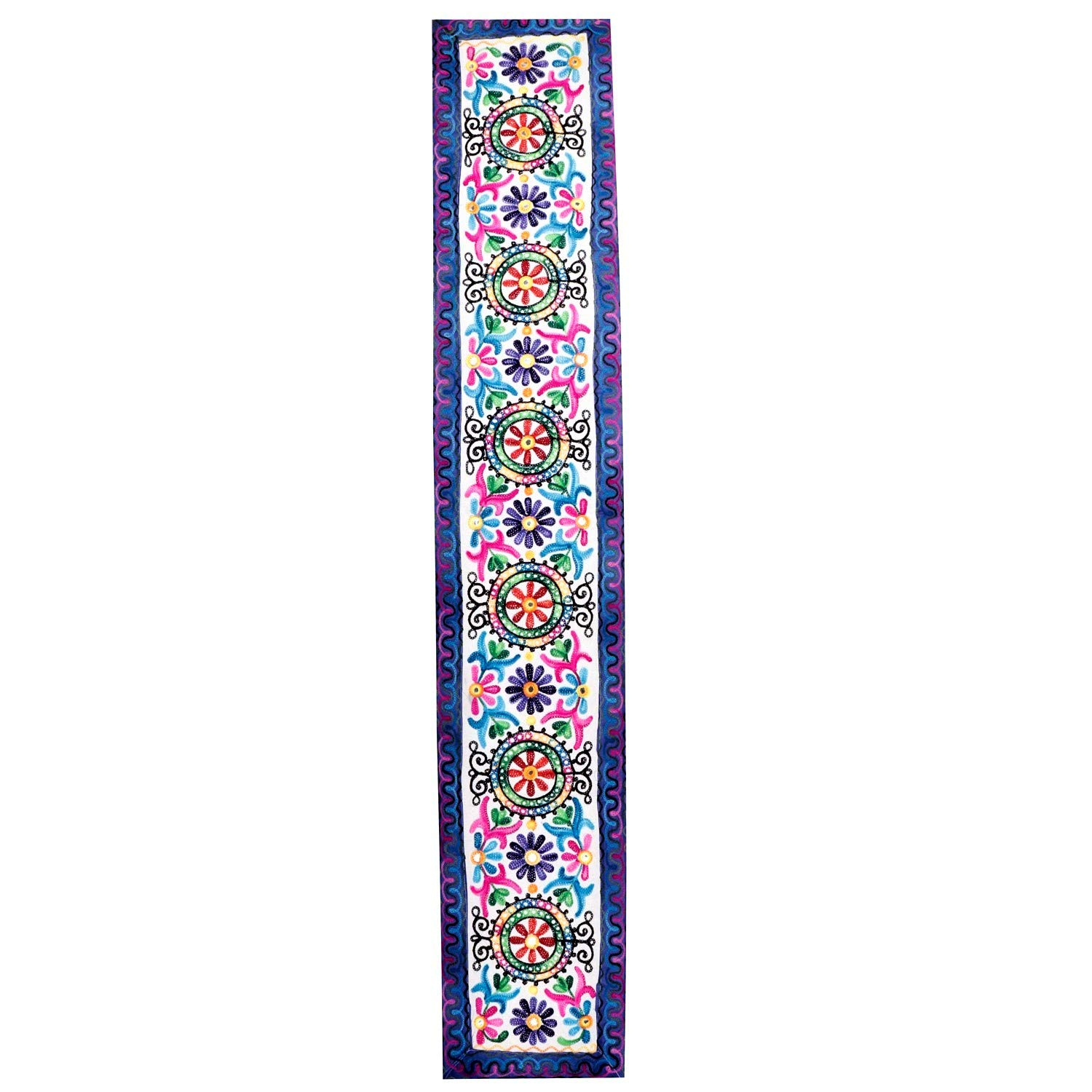 Navy Blue E by design 50 x60 Gypsy 2 Floral Print Tapestry
