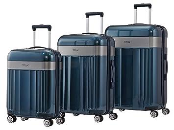 Titan Spotlight Juego de maletas (4 ruedas) azul oscuro 3-pc.: Amazon.es: Equipaje