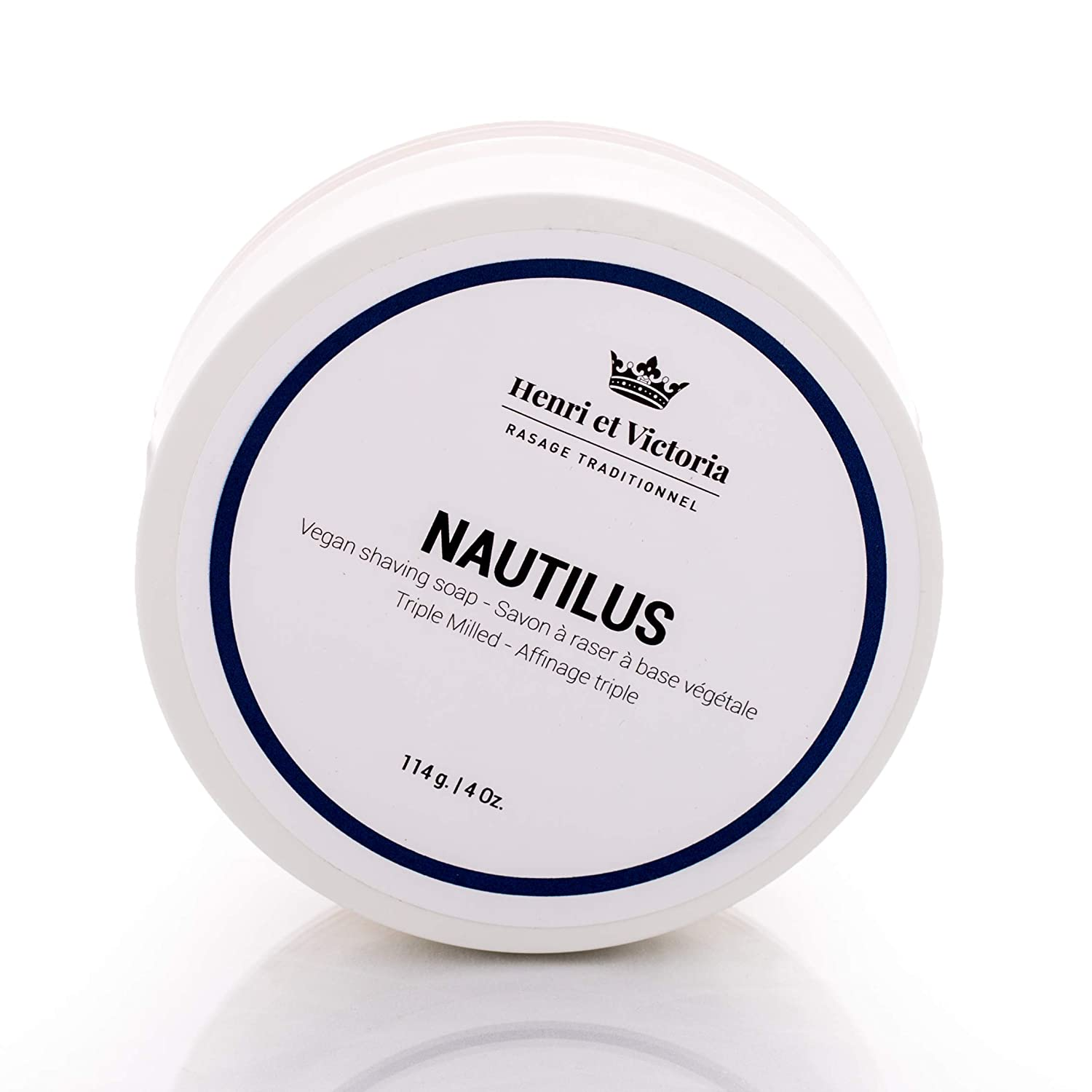 Nautilus shea Butter Triple Milled Shaving Soap For Men | Hand Made in CANADA byHenri et Victoria | Moisturizing, Ultra Glide, Cushioning, Easy Lather, Prevent Razor Burn and Dry Skin | 114 g (4 oz) Henri et Victoria Inc.