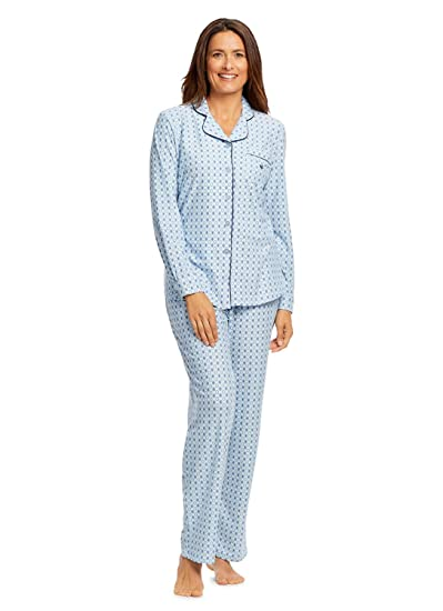 98cefc410b Gloria Vanderbilt Women's 2-Piece Pajama Set | Button-Down Sleep Top &  Pants at Amazon Women's Clothing store: