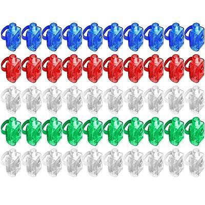 50pcs LED Finger Lights,DLAND Super Bright LED Finger Light Finger Flashlights Light up Toys Party Favor Supplies. (Mixed Color)