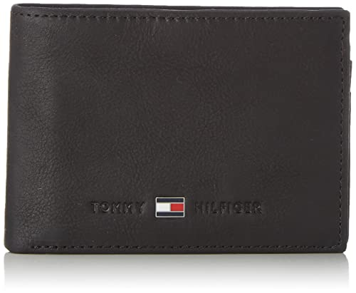 Tommy Hilfiger Johnson Mini CC Flap and Coin Pocket, Cartera Hombre^Mujer, Black, OS: Amazon.es: Zapatos y complementos