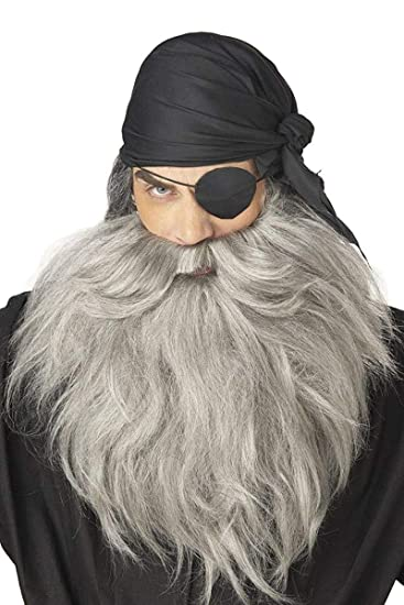 763d7c78540 Amazon.com  Pirate Beard   Moustache Costume Accessory  Clothing