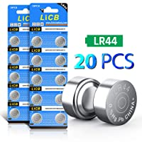 LiCB LR44 AG13 357 303 A76 1.5V Button Coin Cell Batteries(20 Pack)