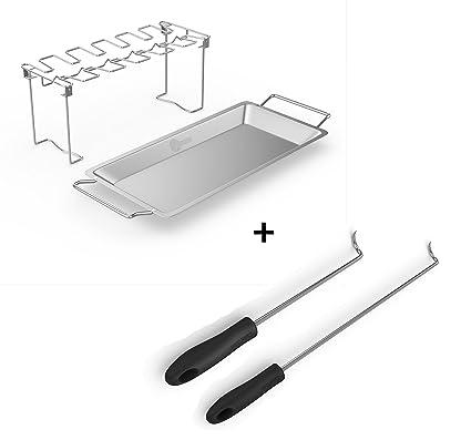 Amazon.com: Soporte de ala de pollo y pierna para asador de ...