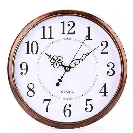 Marvelous Bekith 12 Inch Retro Clock Non Ticking Silent Quartz Decorative Wall Clock