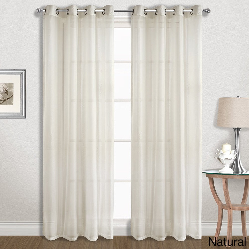 White United Curtain SPE63WH Special Voile Window Curtain Panel Pairs 104 x 63
