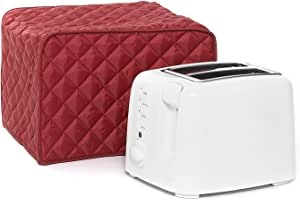 Toaster Dust Cover,Liangxiang Kitchen Toaster Cover Appliance 2 Slice 11W x 8D x 8H (Red)