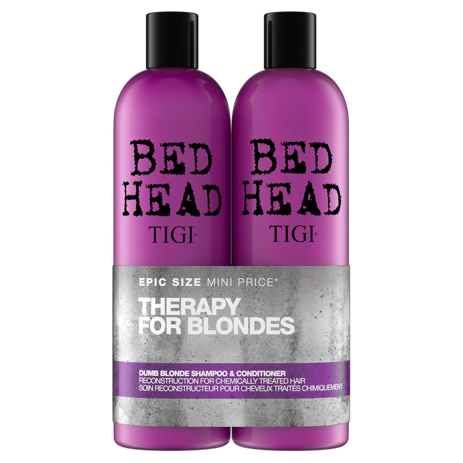Bed Head by Tigi Dumb Blonde Shampoo and Conditioner for Blonde Hair 2 x 750 ml