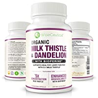Max Absorption Organic Milk Thistle (Strongest 5:1 Concentrated Extract) & Organic...