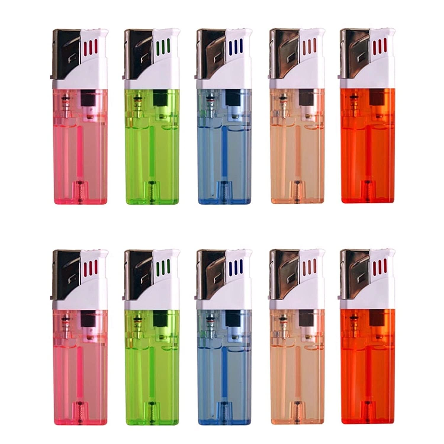 Amazon.com: 10 PACK Windproof Butane Gas Cigar Cigarette Lighter ... for Torch Lighter Refill  55dqh