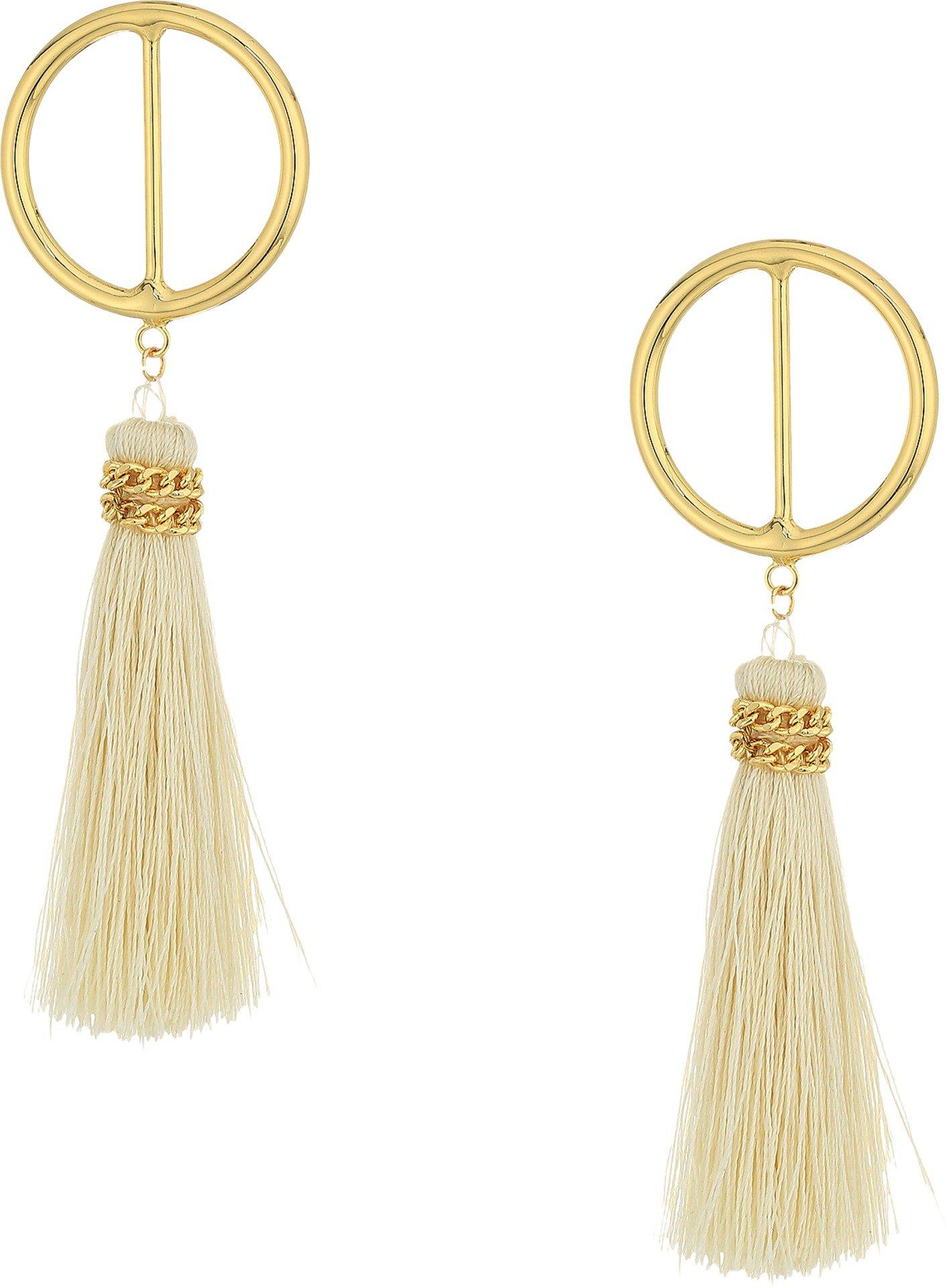 SHASHI Women's Mia Hoop Earrings Bone One Size