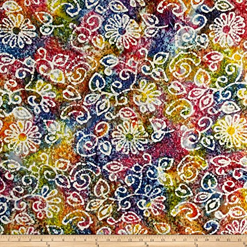 Indian Crinkle Cotton Floral Scroll product image