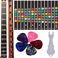 Guitar Fretboard Stickers, Kimlong Color Coded Note Decals Fingerboard Frets Map Sticker for Beginner Learner Practice…