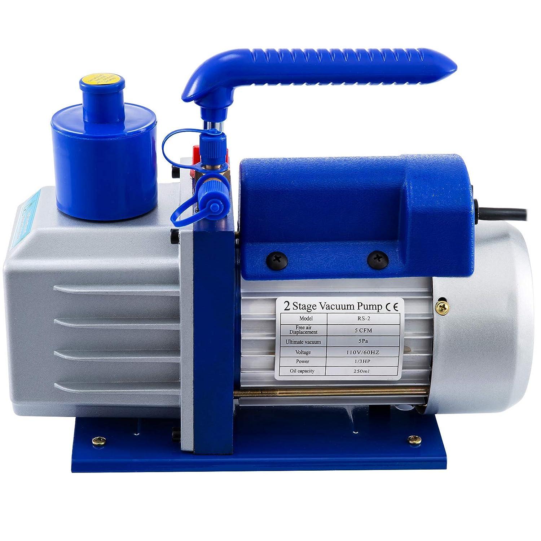Amazon.com: Bestauto 5 CFM 1/3 HP 2 Stage Air Conditioner ...